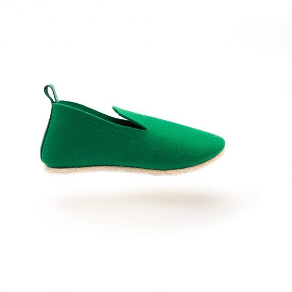 charentaise fabrication française moderne, design, contemporaine tcha minimal emeraude - homme, femme, enfant