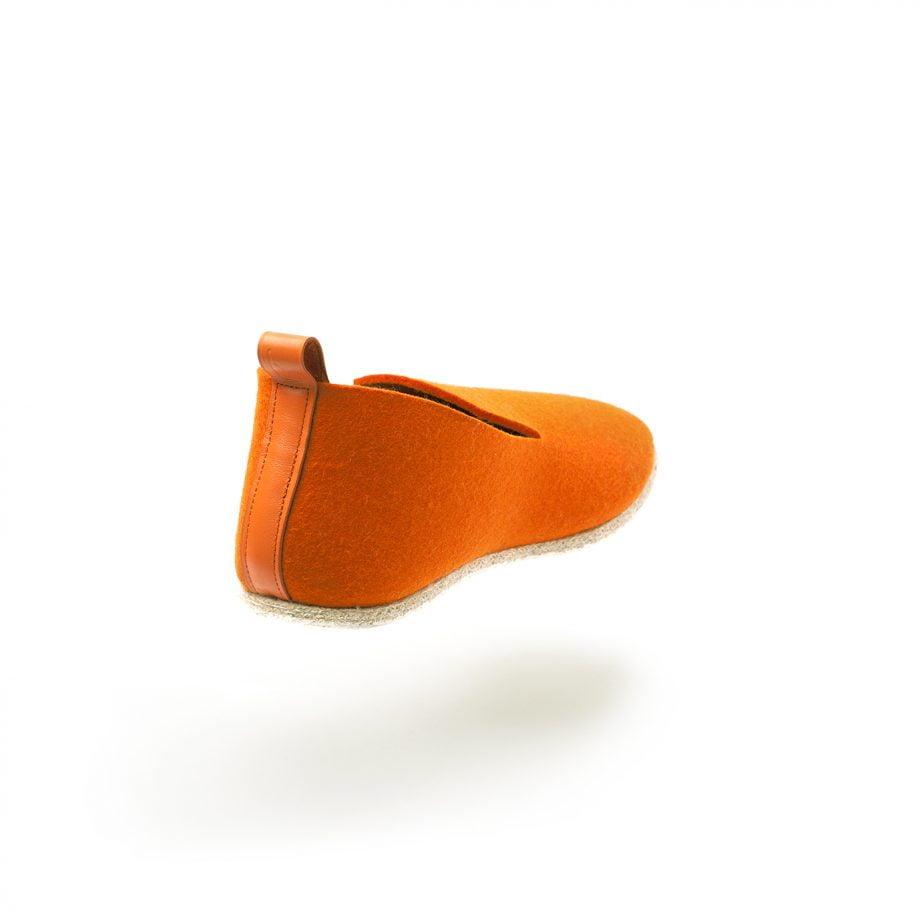 charentaise moderne, design, originale tcha minimal orange - homme, femme, enfant