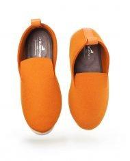charentaise moderne, design, originale tcha minimal orange – homme, femme, enfant