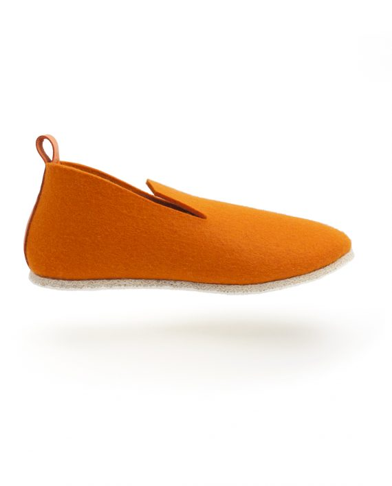 charentaise moderne, design, originale tcha minimal orange - homme, femme, enfant