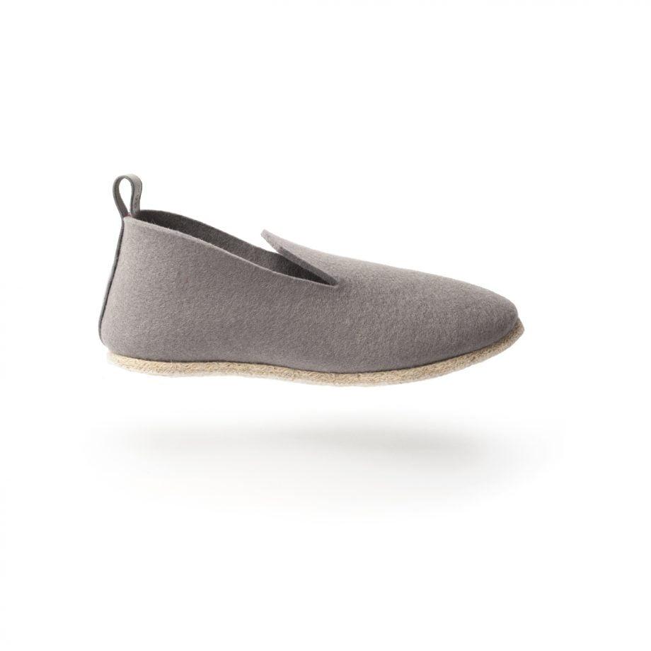 charentaise fabrication francaise gris, moderne, design, originale tcha minimal souris - homme, femme, enfant