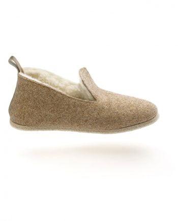 charentaise en feutre moderne, design, contemporaine tcha wooly gold